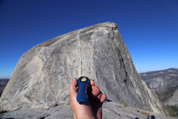 At the base of Half Dome (just after summiting).