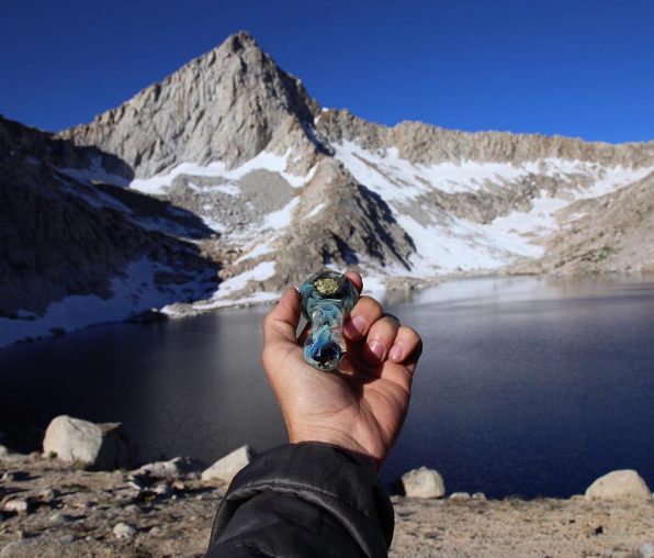 Columbine Lake, at the base of Sawtooth Pass, in California's Mineral King Wilderness